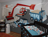Large Under Construction Paint-by-Number Wall Mural