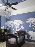 Large Silhouette Safari Wall Mural