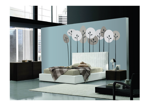 Mod Trees - Tall Paint-by-Number Wall Mural