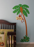 Monkey in a Tree Paint-by-Number Wall Mural