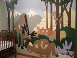 Moose on the Loose Paint-by-Number Wall Mural