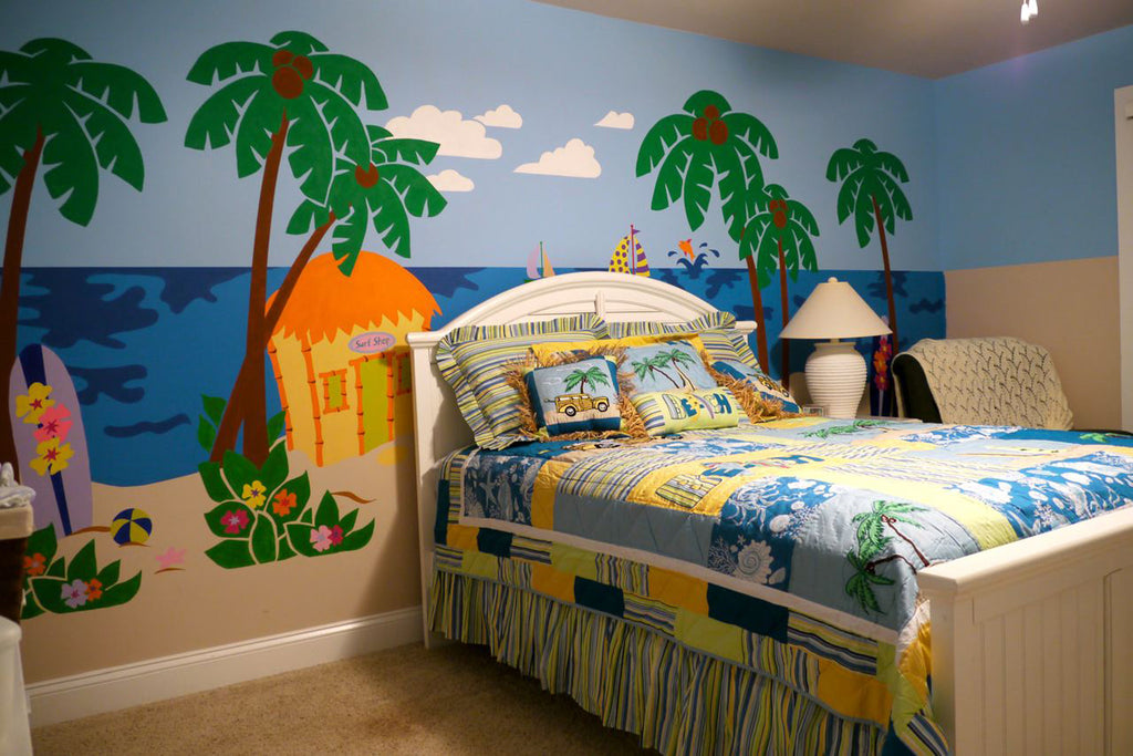 ... Beach Scene Paint By Number Wall Mural ... Part 58