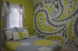 Paisley Paint-by-Number Wall Mural