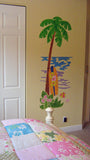 Palm Tree & Surfboard Wall Mural