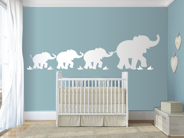 Parade Of Elephants Paint By Number Wall Mural