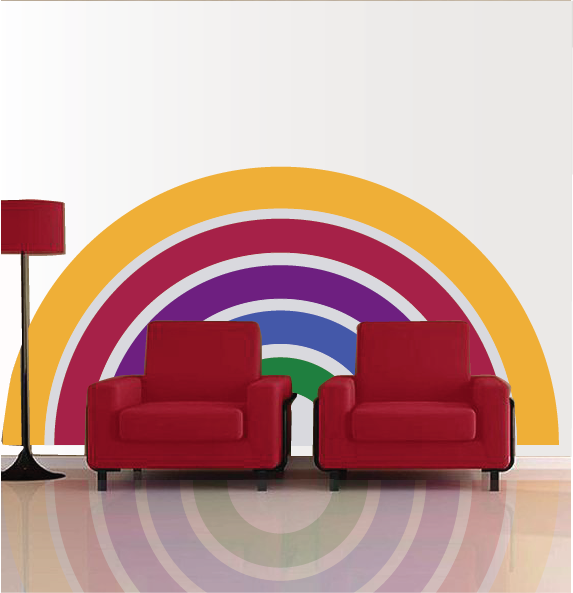 Rainbow - Medium Paint-by-Number Wall Mural