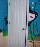 Shark Doorhugger Wall Mural