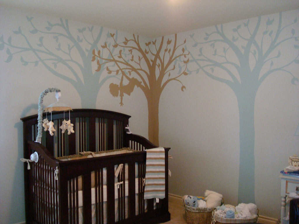 Silhouette Fun for Boys Wall Mural Elephants on the Wall
