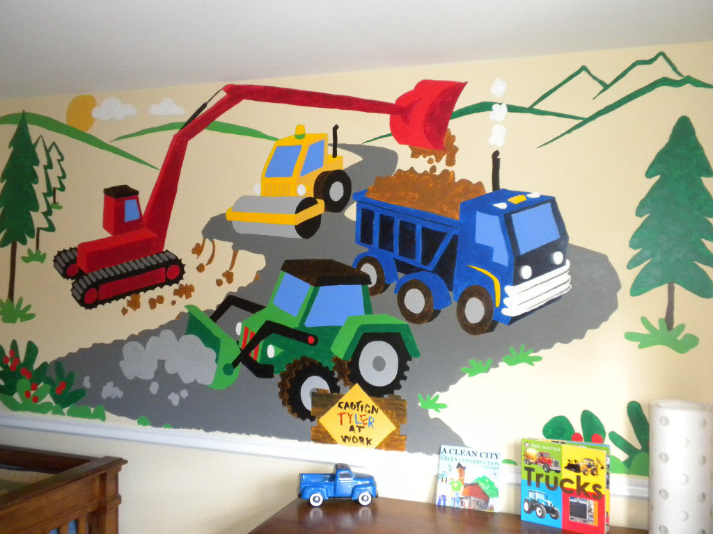 Small Under Construction Wall Mural