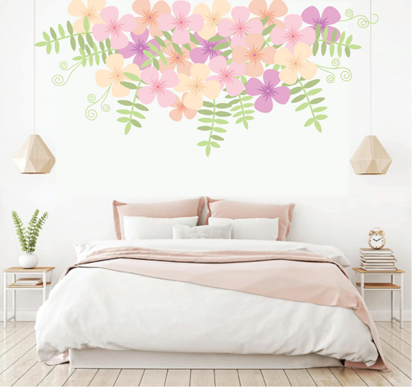Sweet Pea Cascade Paint-by-Number Mural