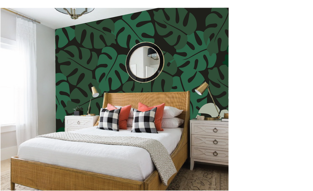 Large Tropical Leaves Paint By Number Mural Elephants On The Wall Mural painting is inherently different. large tropical leaves paint by number mural