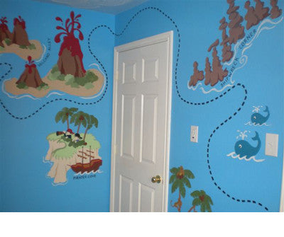 Pirate Pete's Treasure Map - LG Wall Mural on map tiles, map of america, map art ideas, map canvas painting, map wallpaper, map posters, map craft projects, map tattoo designs, map t-shirt designs, map border designs, map book covers, map wall decal, map still life, map wall art,