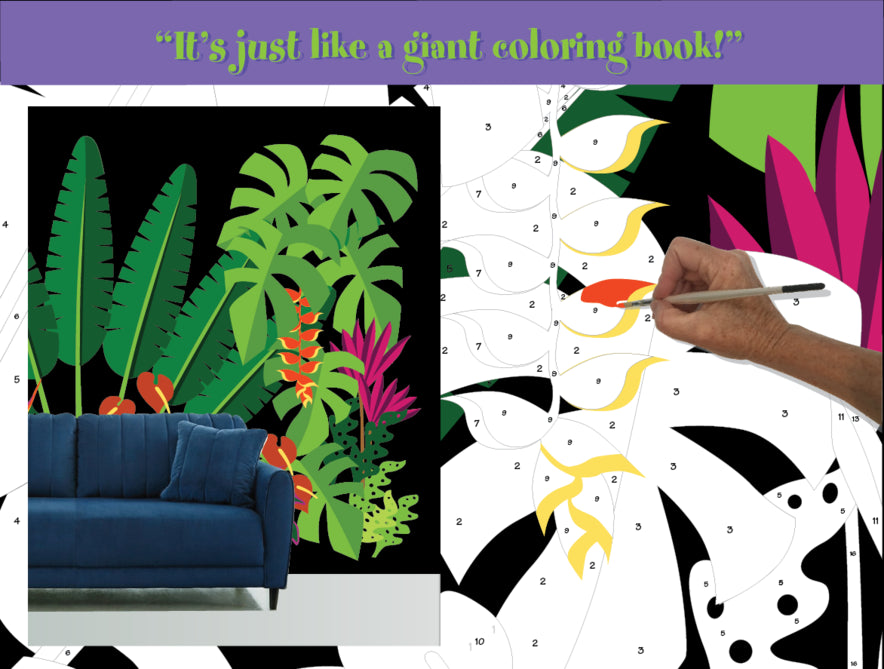 Large Under Construction Paint-by-Number Wall Murals for Kids