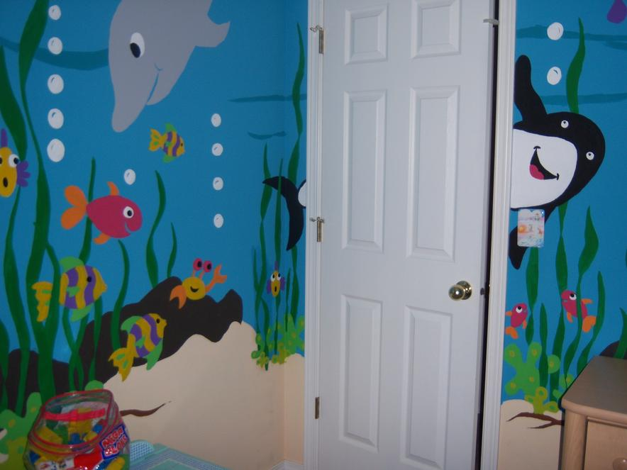 Silhouette Swing Paint-by-Number Wall Mural