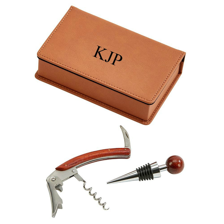 Personalized Wine Tool Set in Gift Box