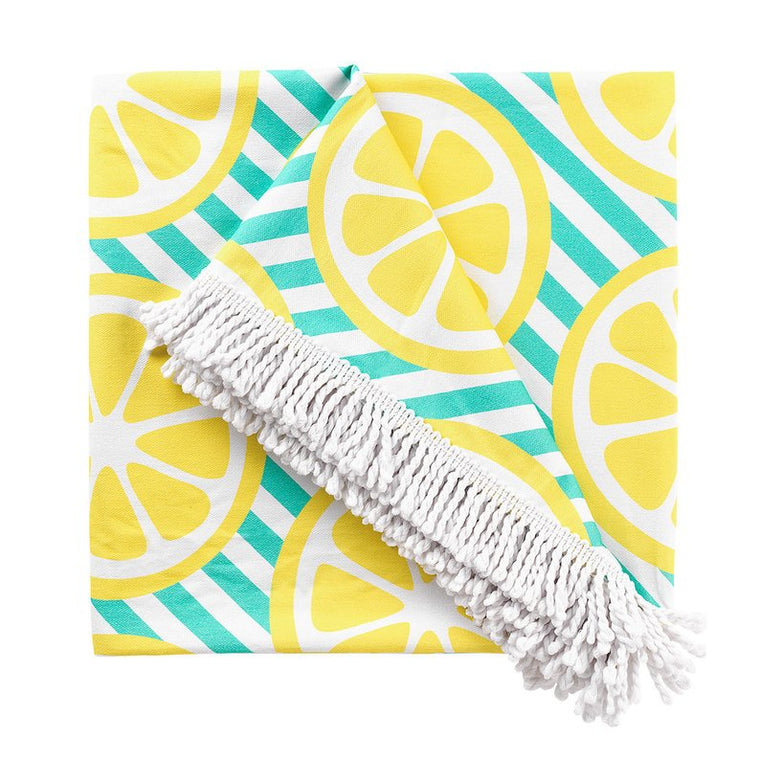 Personalized-Lemon-Squeeze-Beach-Blanket