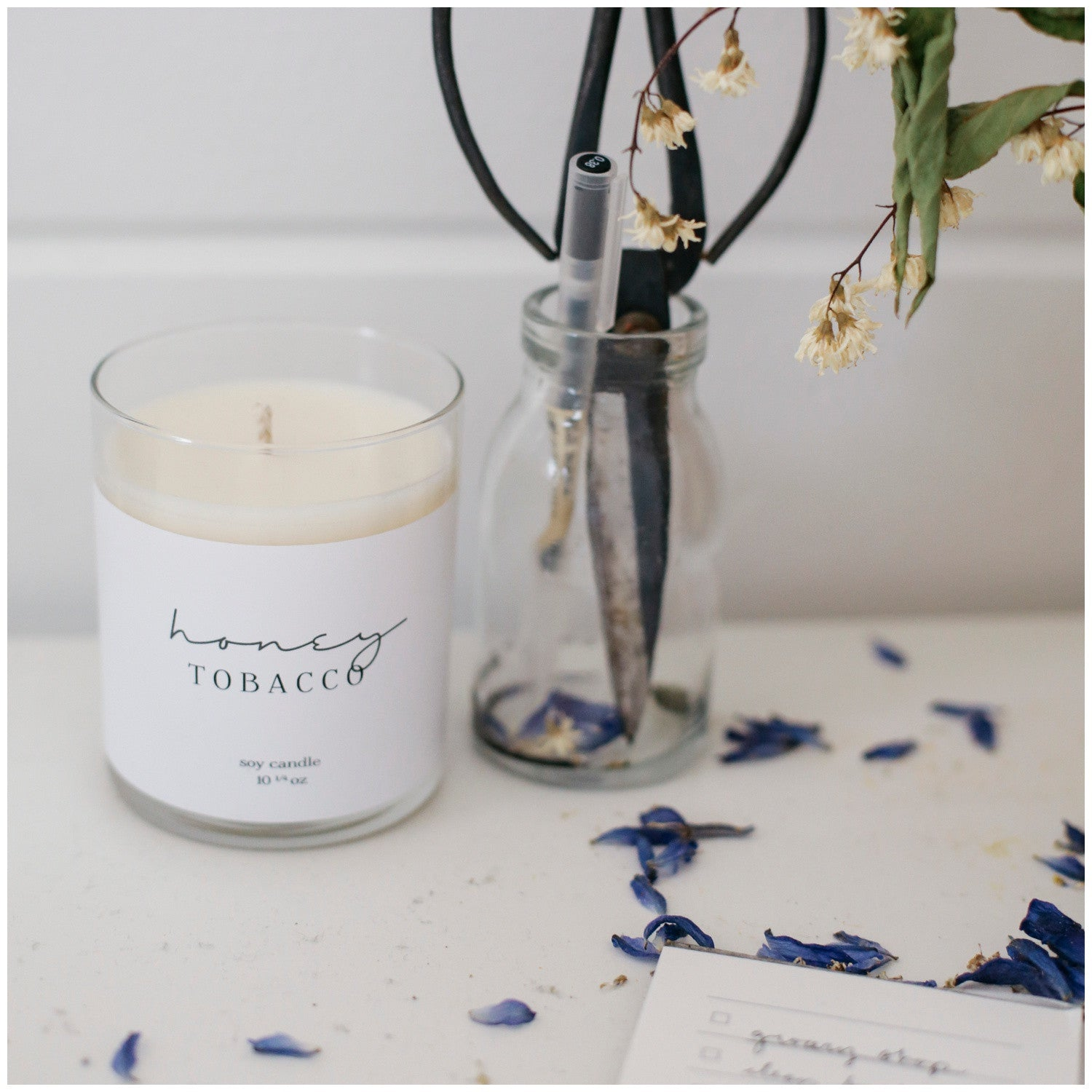 How to care for your soy candle- Honey Tobacco Soy Candle- Picot Collective