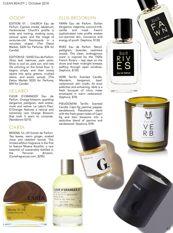 Best Clean Fragrance Honey Tobacco by Picot Collective in Tonic Magazine