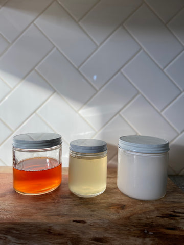 Iced Earl Grey and coconut latte reusable candle jars