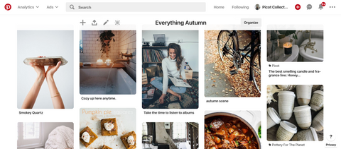 Everything Autumn Pinterest Page by Picot Collective