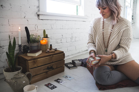 Picot Collective Blog with the wild unknown tarot cards, crystals and mala meditation jewelry made in Canada by Shanti Collective