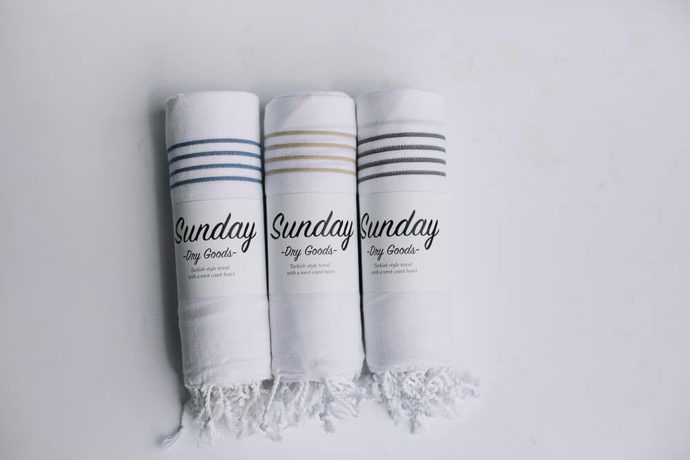 Turkish Towels- Sunday Dry Goods- Picot Collective- Victoria BC