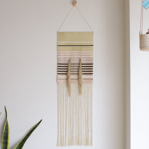 Native Line Wall Hanging at Fieldstudy from the Picot Collective Blog