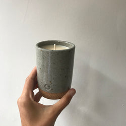 Thomas Mihalik Ceramic Honey Tobacco Candle: four