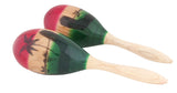 11X3.5 In Painted Oval Maracas