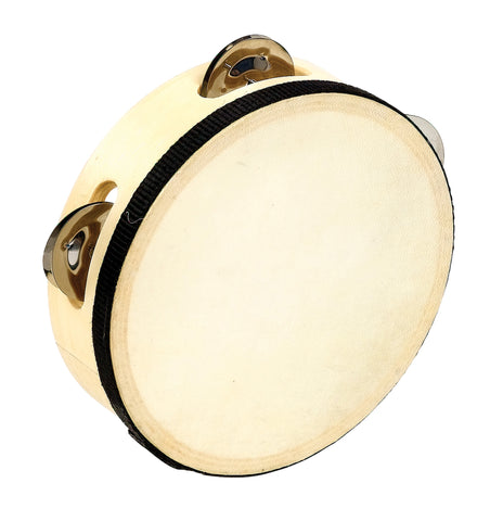 6 In Wood Headed Tambourine