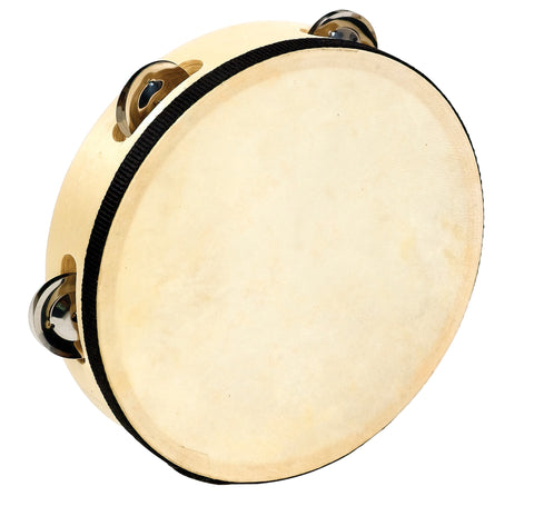 10 In Wood Headed Tambourine