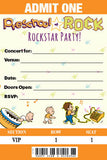 Preschool of Rock Birthday Party Invitations