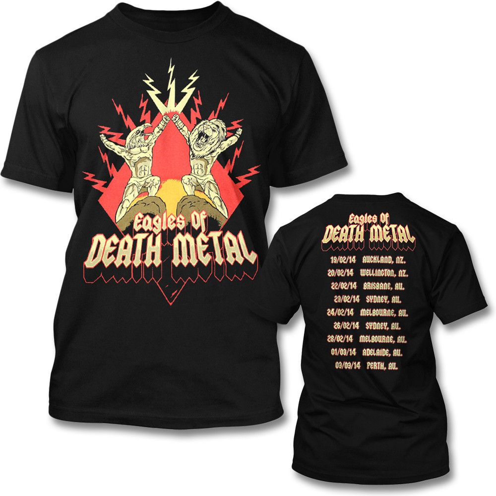 d5bdae404 This is an Officially Licensed Eagles of Death Metal Tour T-shirt. This  Power Eagle Tour design is printed on a standard fitting men's tee.