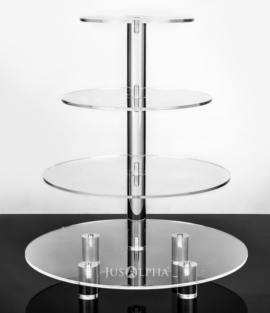 4 tier round wedding cake stand jusalpha 174 4 tier acrylic glass cake stand cupcake 10381