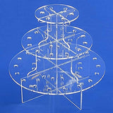 Jusalpha® 3 Tier-clear Acrylic Push Pop Cake Stand (3TPP)