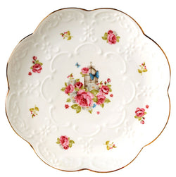 Pack of 2 Vintage Rose Fine China Dinner Plate/Fruit Plate/Dessert Plate FDPL04 (6 Inches)