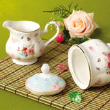 Jusalpha Elegant Floral Fine Bone China Sugar and Creamer Set (Sugar and Creamer Set 01)
