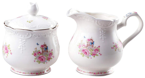Jusalpha Fine china floral vintage sugar and creamer set (FD-TY Creamer set)