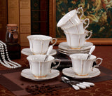 Jusalpha Porcelain Tea Cup and Saucer Coffee Cup Set with Saucer and Spoon FD-TCS08 (6)