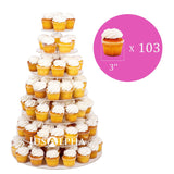 JUSALPHA® 7 Tier Circle Acrylic Cupcake Stand- Cake Stand -Wedding Cake Tower