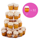 4 Tier Round Acrylic Cupcake Stand
