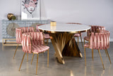 1538DC-ROSE-Milano Dining Chair in Rose Pre-Order
