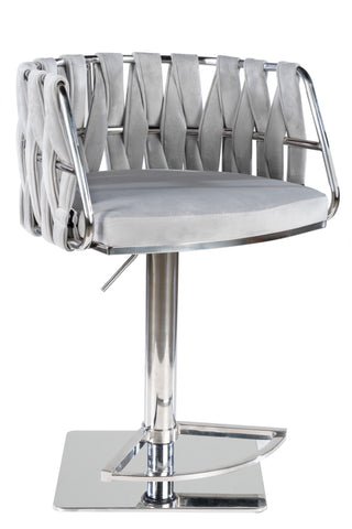1610GB-GRS-Milano Adjustable Swivel Bar /Counter Chair in Chrome-PRE-ORDER