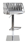 1610-GS-Milano Adjustable Swivel Bar /Counter Chair in Chrome