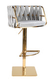 1610-GB-Milano Adjustable Swivel Bar /Counter Chair in Gold