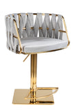 1610GB-GRYG-Milano Adjustable Swivel Bar /Counter Chair in Gold