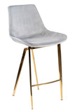 1558CS-G-Xarah Counter Chair in Gold