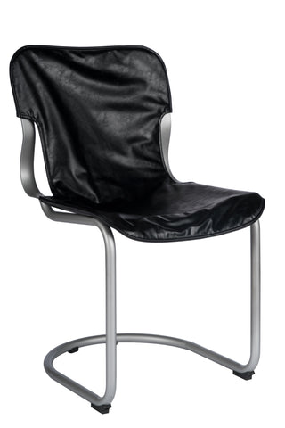 14S01012S-Eddie Dining Chair in Silver