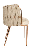 1538DC-BGEG-Milano Dining Chair in Off White and Gold