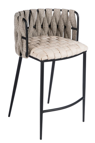 1538CS-BGE-Milano Counter Chair in Off White